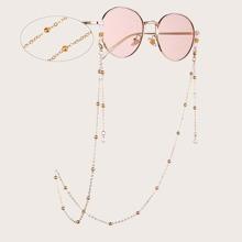 Brillekette mit Kunstperlen Dekor