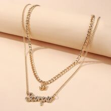 Constellation Letter Layered Necklace