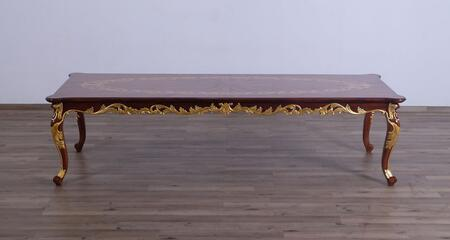 Luxor Collection Dining Table  Hand Made & Hand Carved into Mahogany Wood Solid  in Gold Leaf and Natural