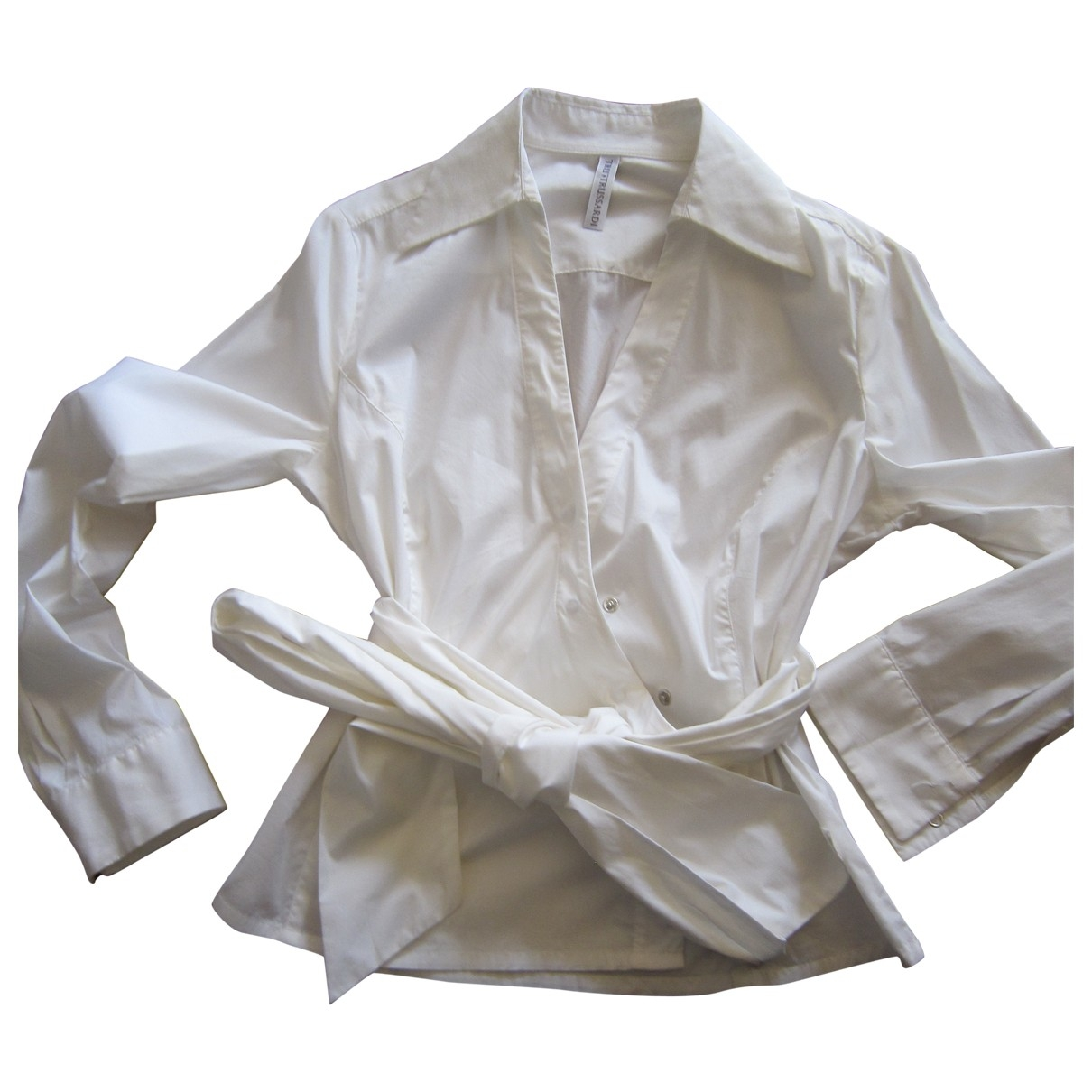 Trussardi \N White Cotton  top for Women 44 IT