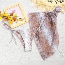 2 Packe Strandrock & Bikini Hoschen mit Schlangenleder Muster