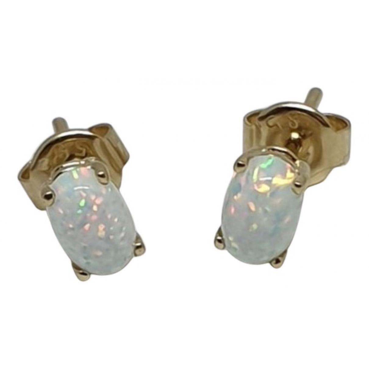- Boucles doreilles Opale pour femme en or jaune