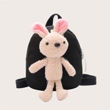 Girls Plush Rabbit Decor Backpack