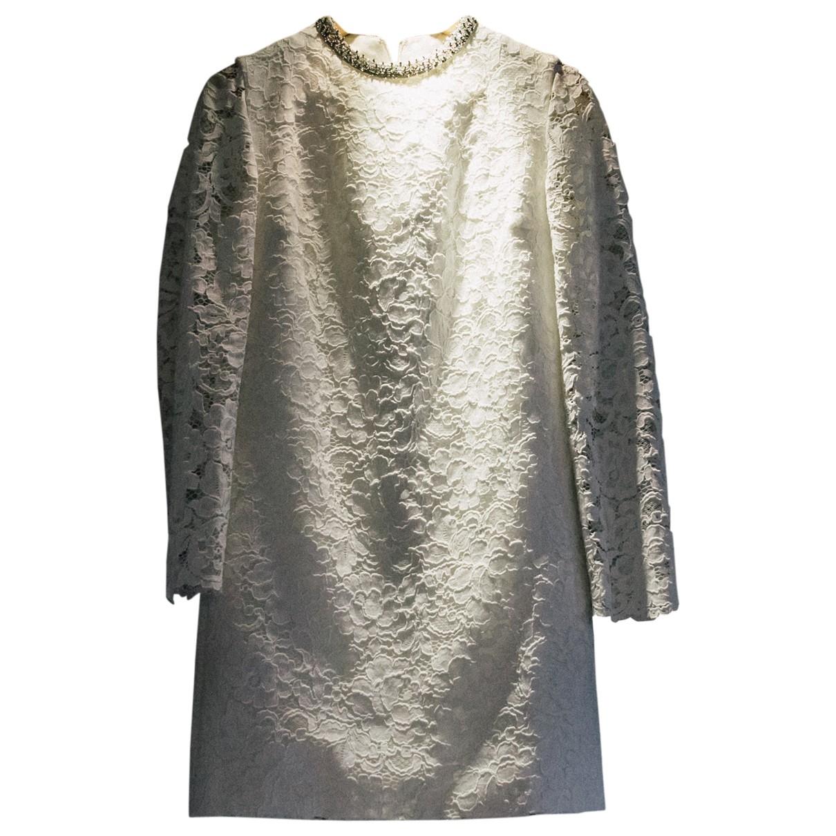 Saint Laurent \N White Lace dress for Women 38 FR