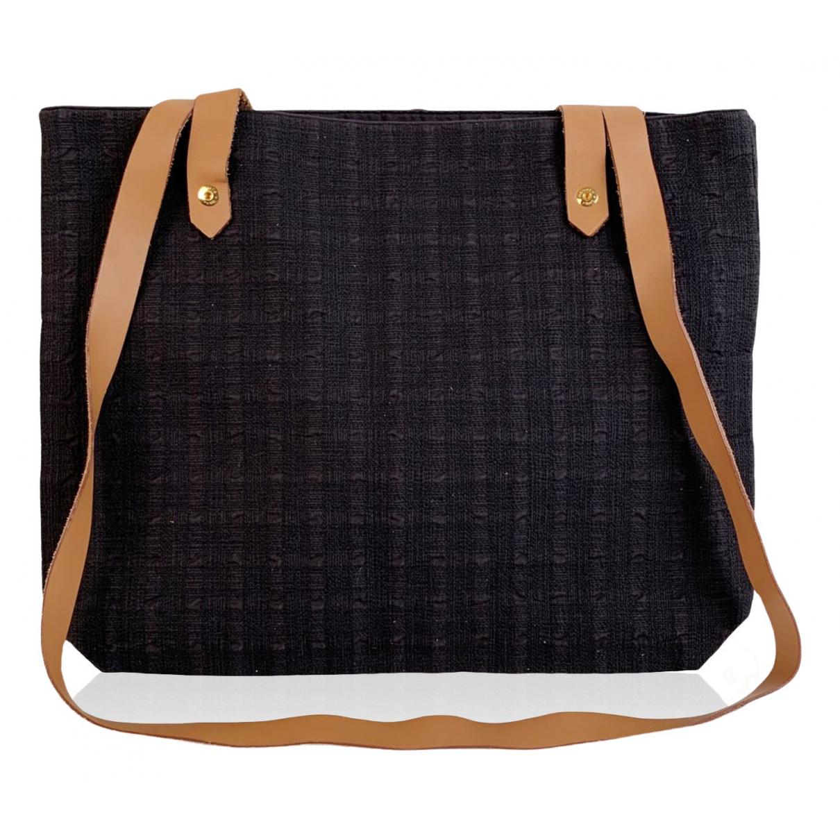 Hermes \N Handtasche in  Schwarz Leinen