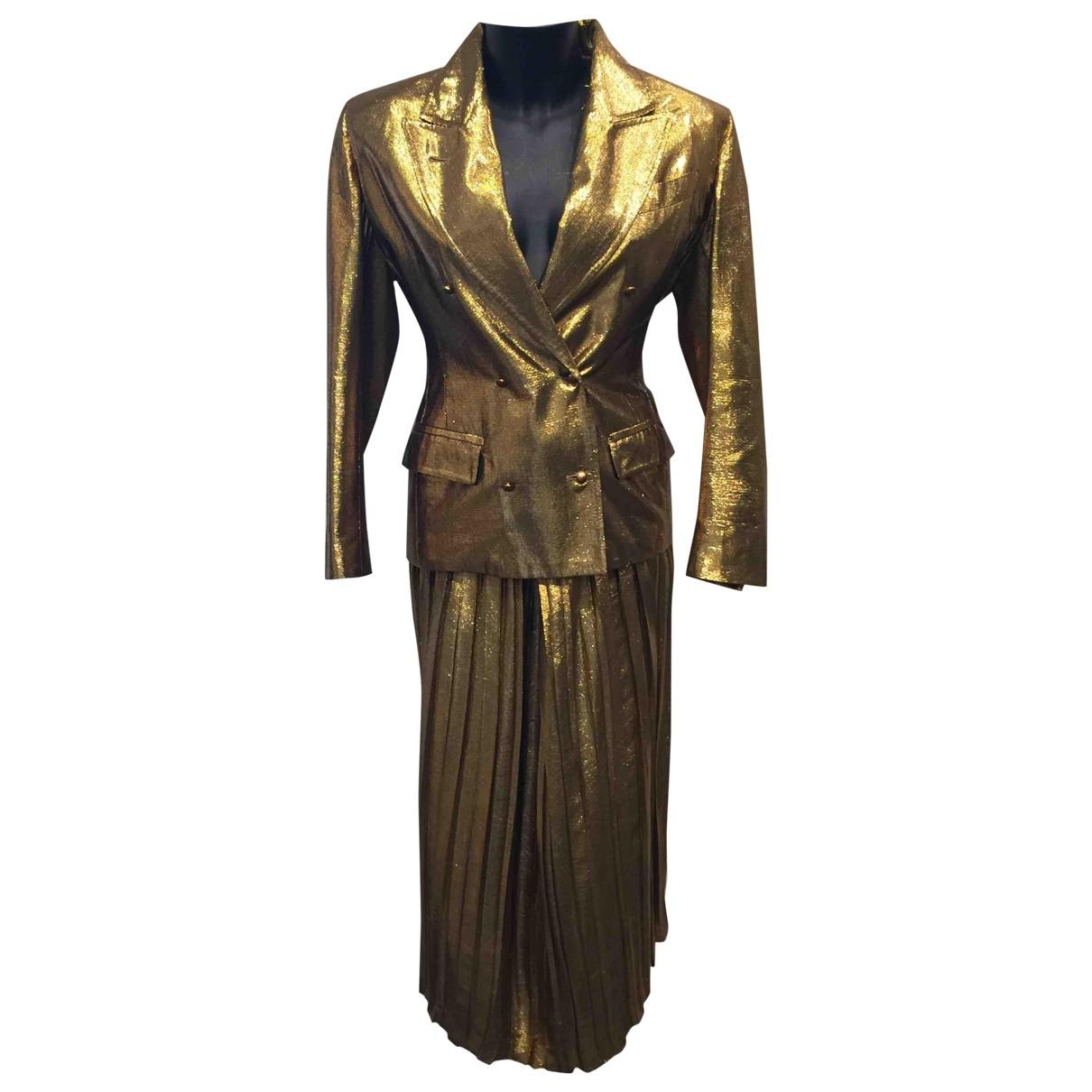 Jean Paul Gaultier \N Rocke in  Gold Baumwolle