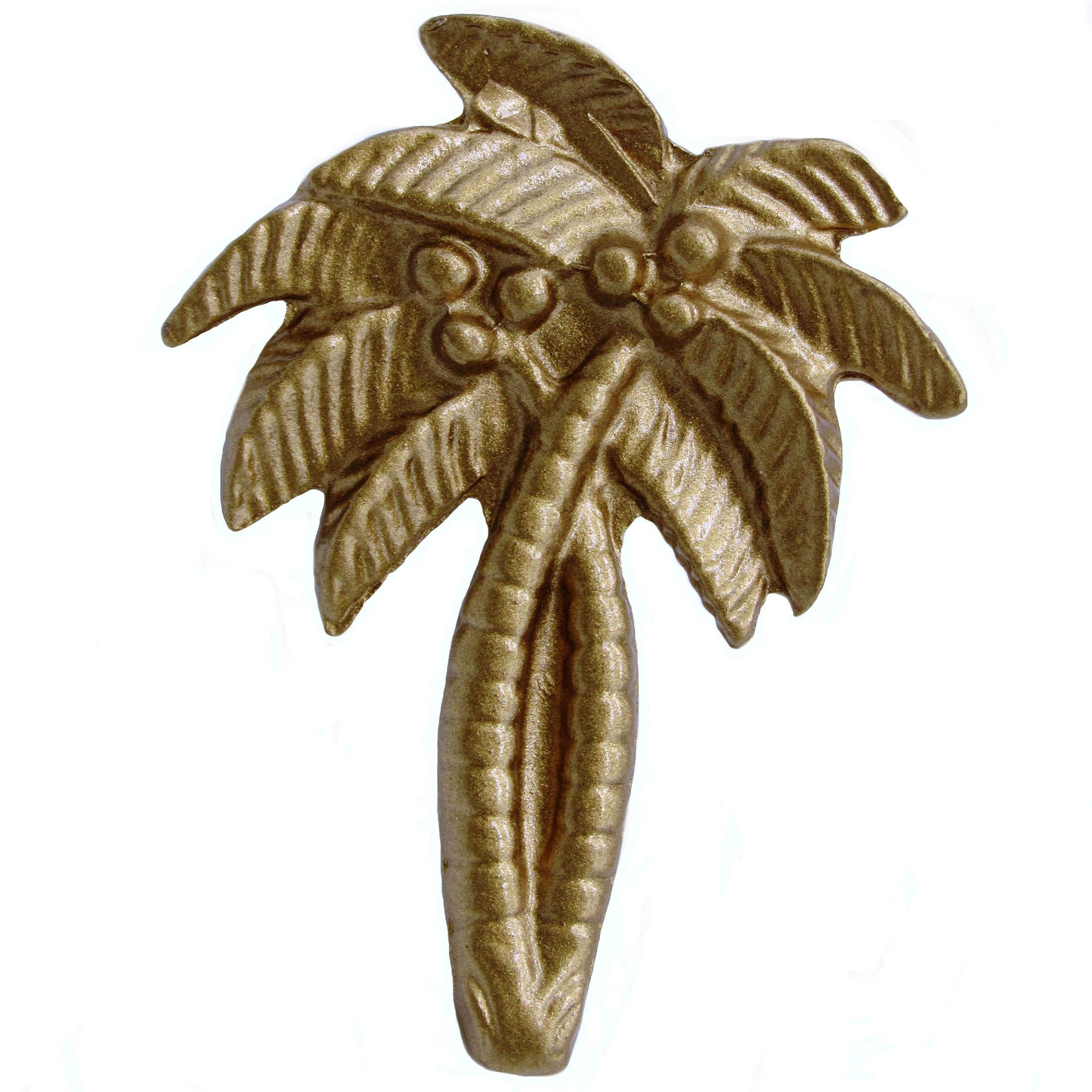 Palm Tree Knob, Lux Gold