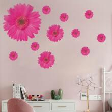Pegatina de pared con estampado de flor