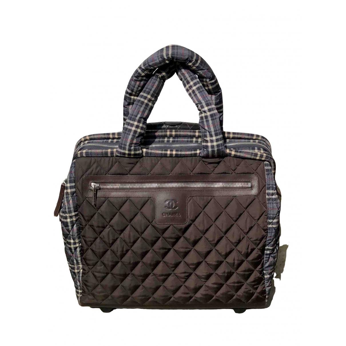 Chanel \N Brown Cloth Travel bag for Women \N
