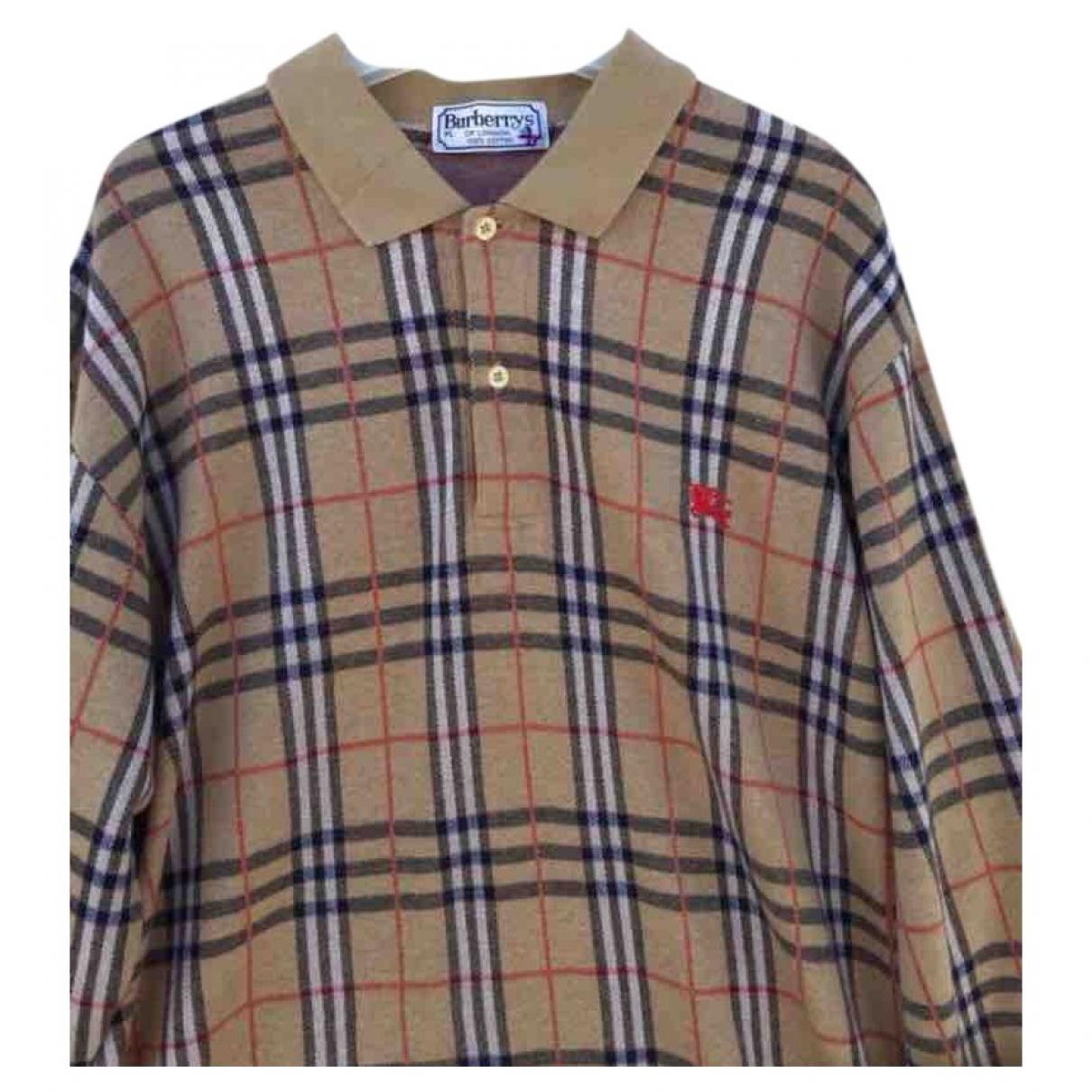 Burberry - Top   pour femme en coton - jaune