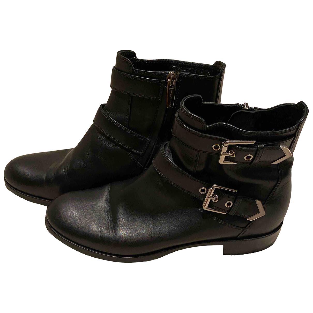 Gianvito Rossi - Bottes   pour femme en cuir - noir