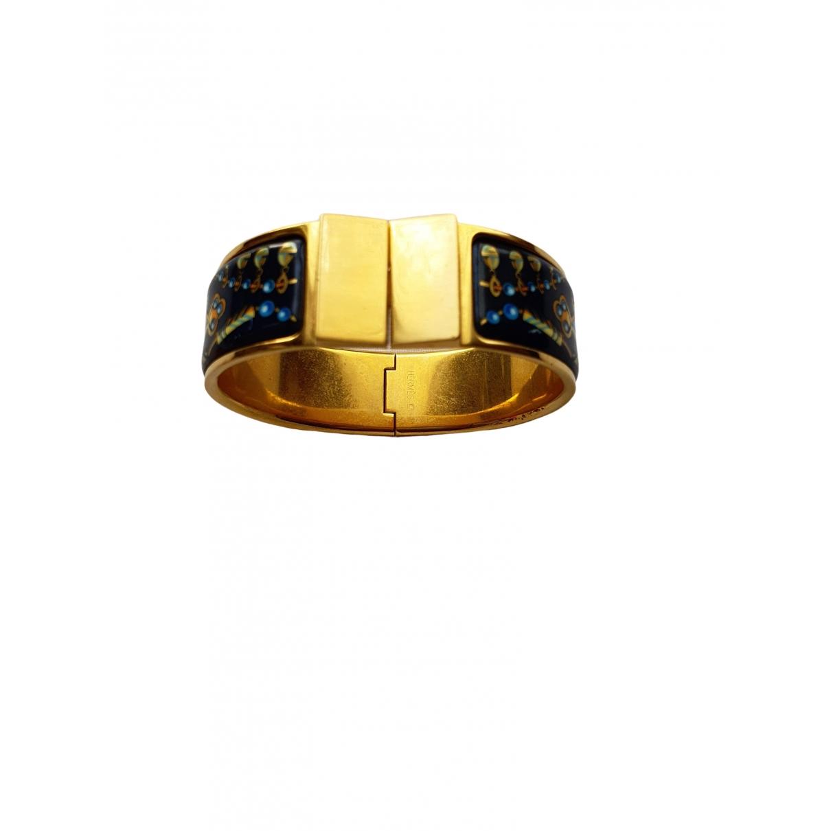 Hermes - Bracelet Bracelet Charniere pour femme en metal - dore