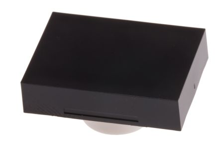 RS PRO Black Rectangular Push Button Lens for use with ADA16 Series