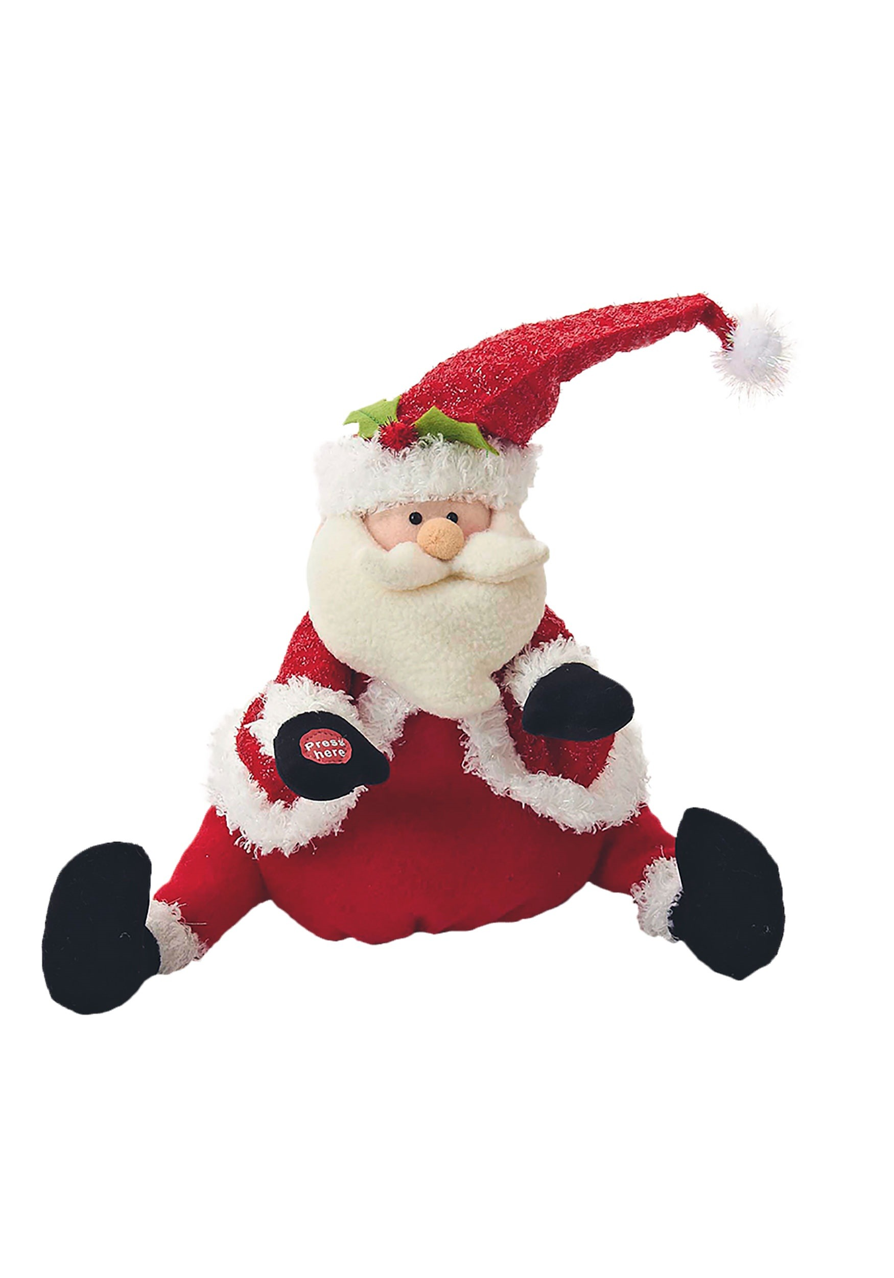 Singing & Dancing Santa Plush Decoration