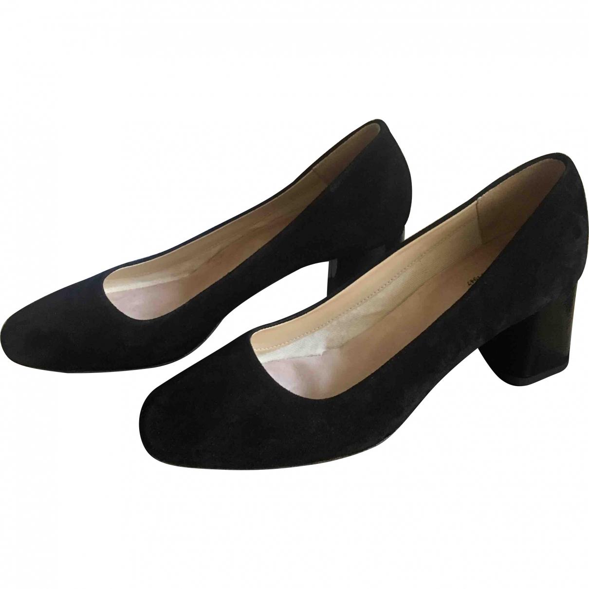 Repetto \N Black Velvet Heels for Women 38 EU