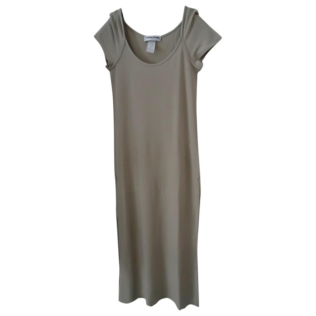 Sonia Rykiel \N Beige Cotton dress for Women 36 FR