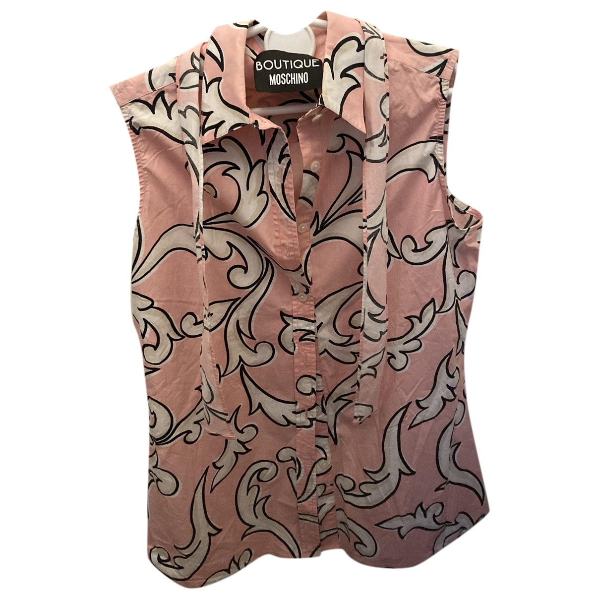 Moschino N Pink Cotton  top for Women 40 IT