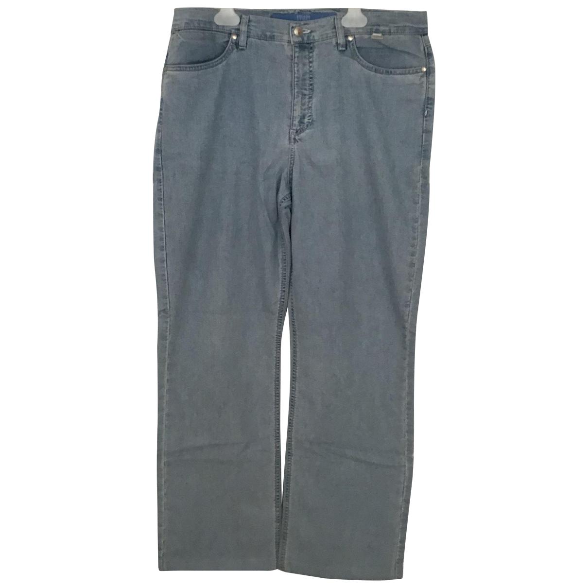 Escada \N Blue Cotton - elasthane Jeans for Women 44 FR