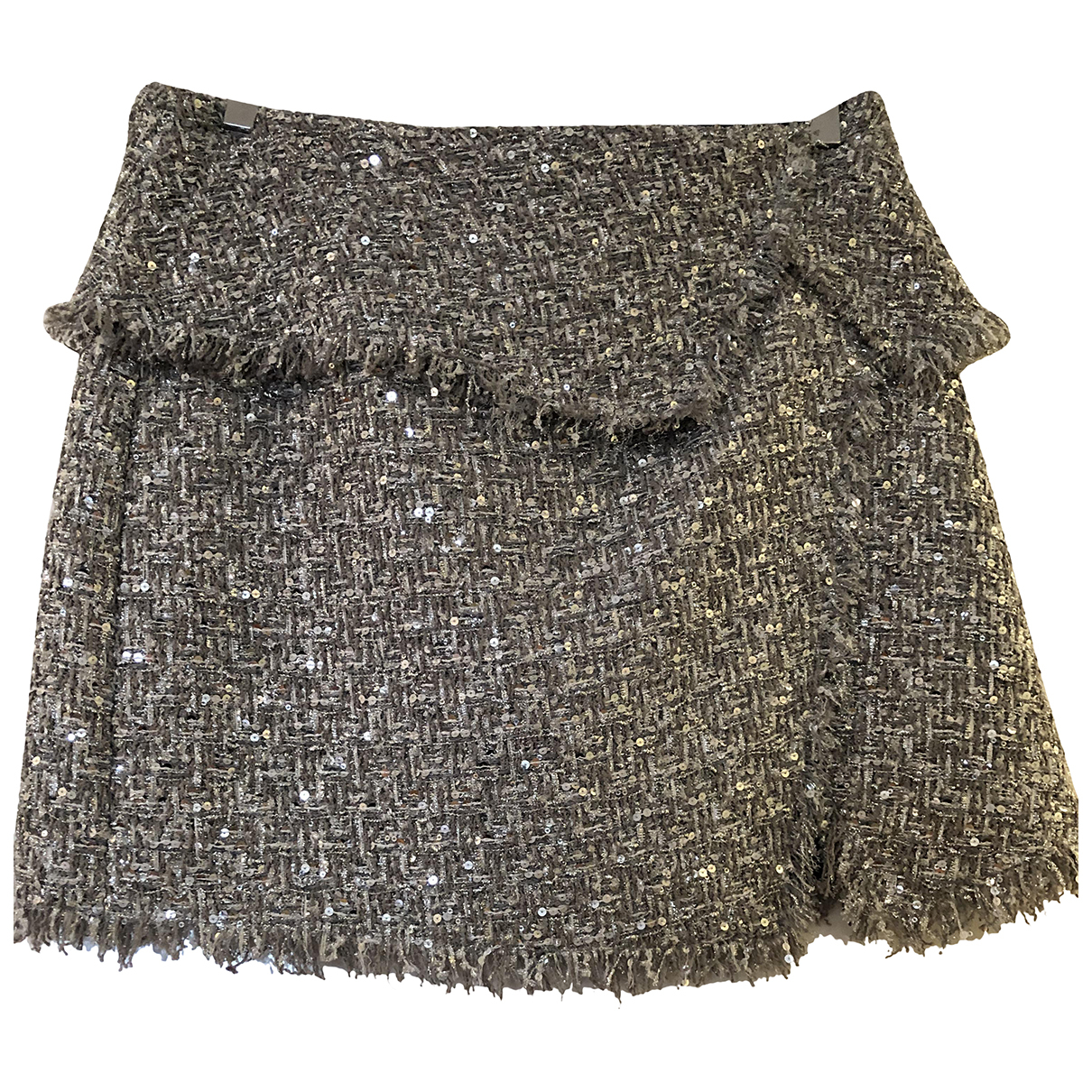 Non Signé / Unsigned N Metallic Tweed skirt for Women 38 FR