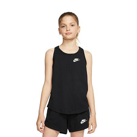 Nike Big Girls Sleeveless T-Shirt, Small , Black