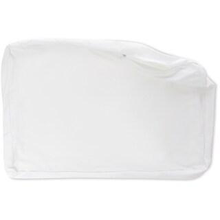Premium Microbead Pillow, Anti-Aging, Cooling Silk like Cover, White (~ Cover, White - Medium)