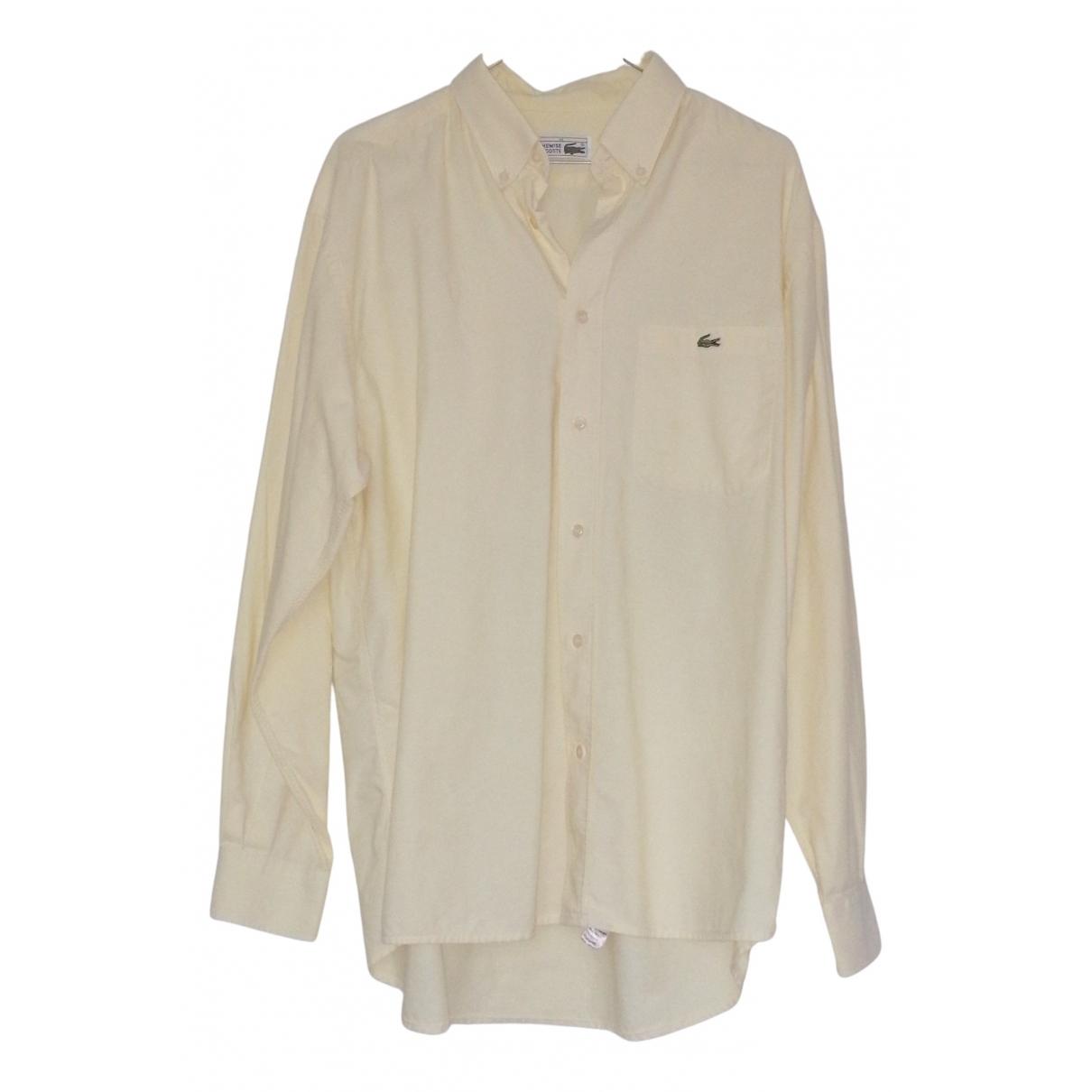 Lacoste - Chemises   pour homme en coton - jaune