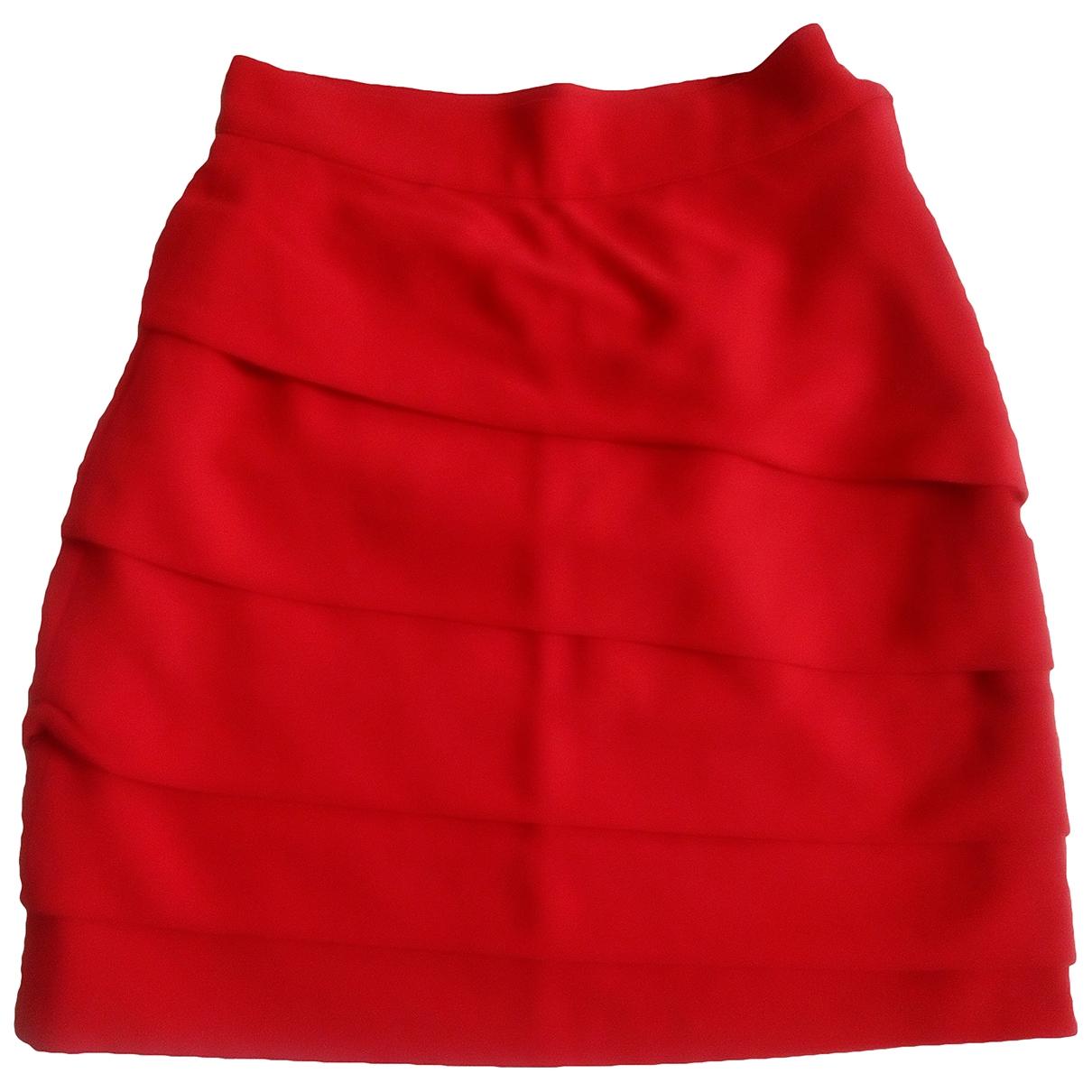 Gianni Versace - Jupe   pour femme en laine - rouge