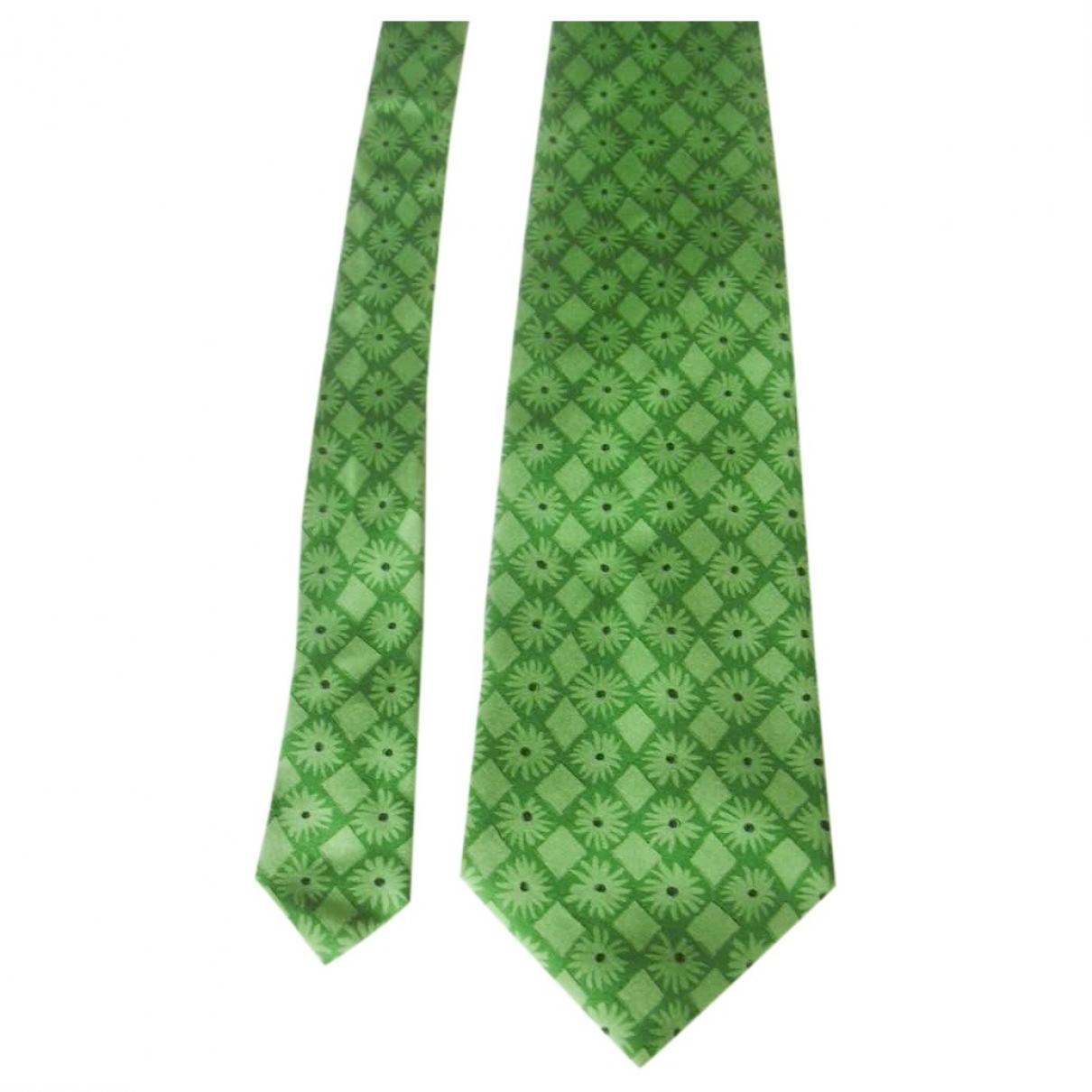 Emanuel Ungaro \N Green Silk Ties for Men \N