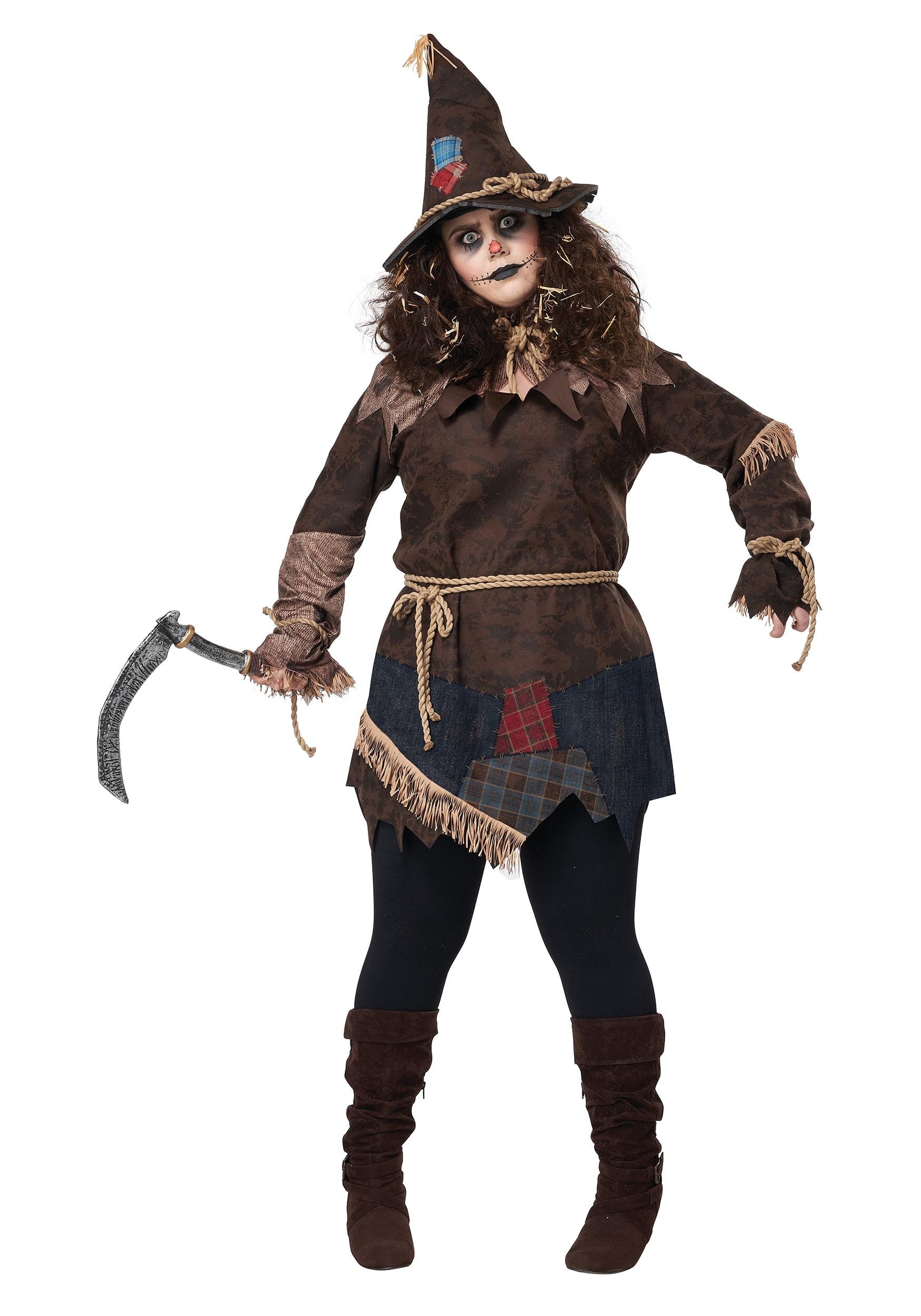 Women's Creepy Scarecrow Plus Size Costume