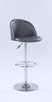 1313-AS-GRY Pneumatic Rounded Back Adjustable Stool in