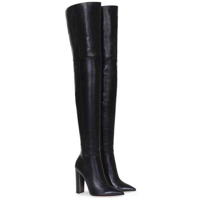 Ericdress Slip-On Chunky Heel Pointed Toe Short Floss Boots