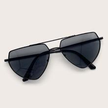 Gafas de sol de marco metalico con barra superior