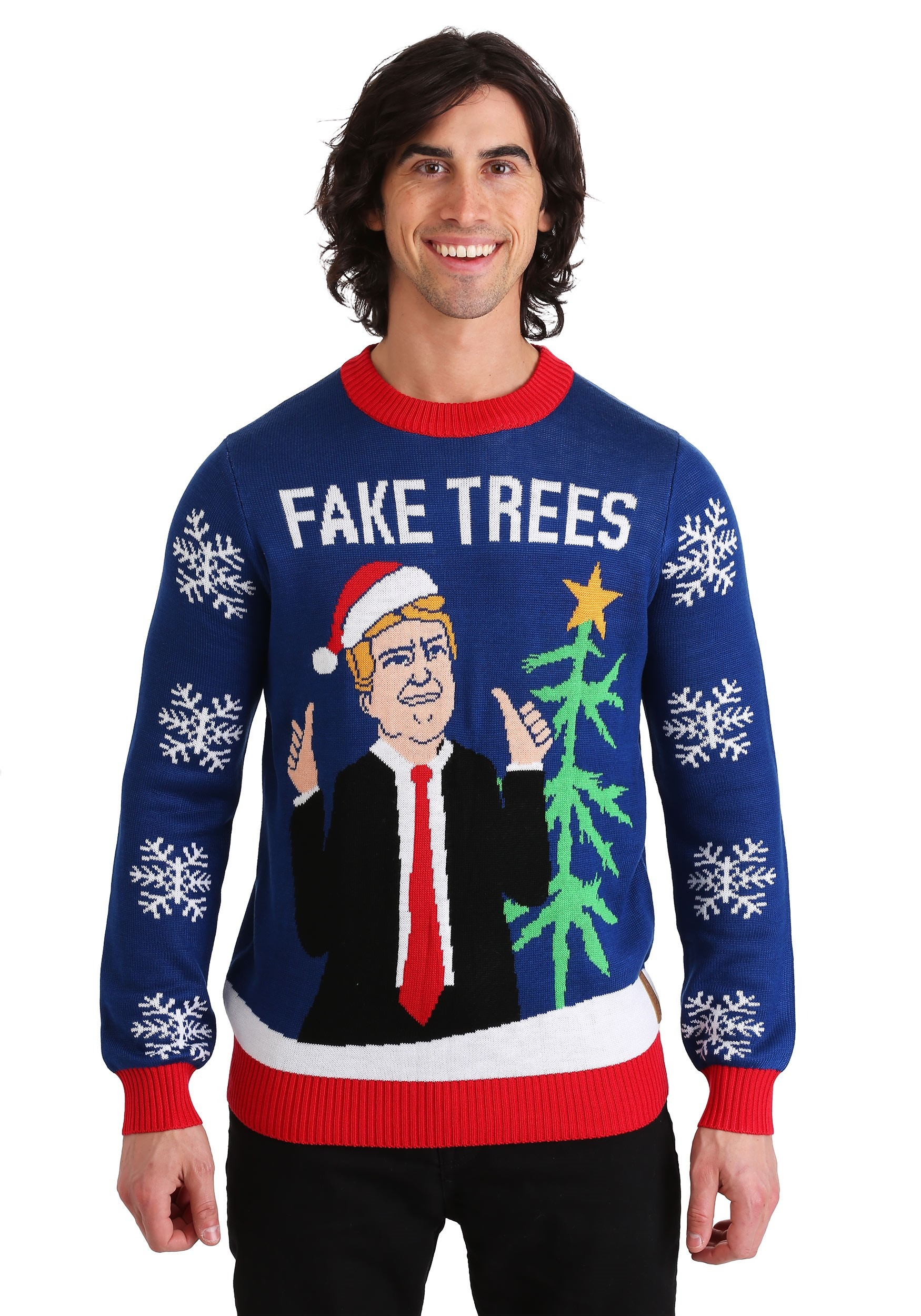 Tipsy Elves - Trump Fake Trees Ugly Christmas sweater