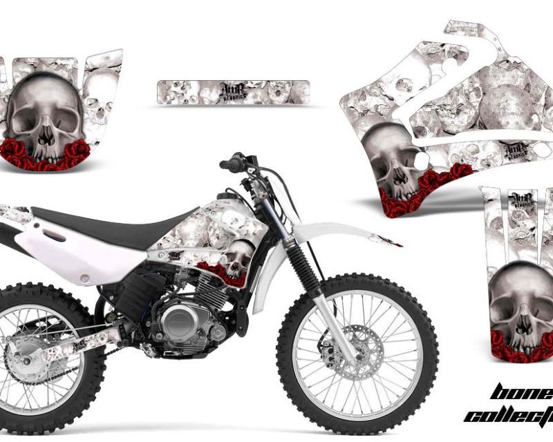 AMR Racing Dirt Bike Graphics Kit MX Decal Wrap For Yamaha TTR125LE 2000-2007áBONES WHITE