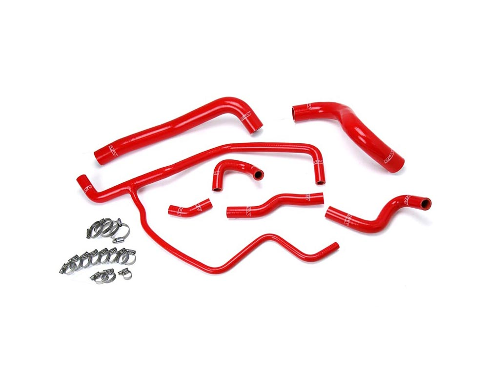 HPS Red Reinforced Silicone Radiator + Heater Hose Kit Coolant for Dodge 11-17 Challenger 3.6L V6