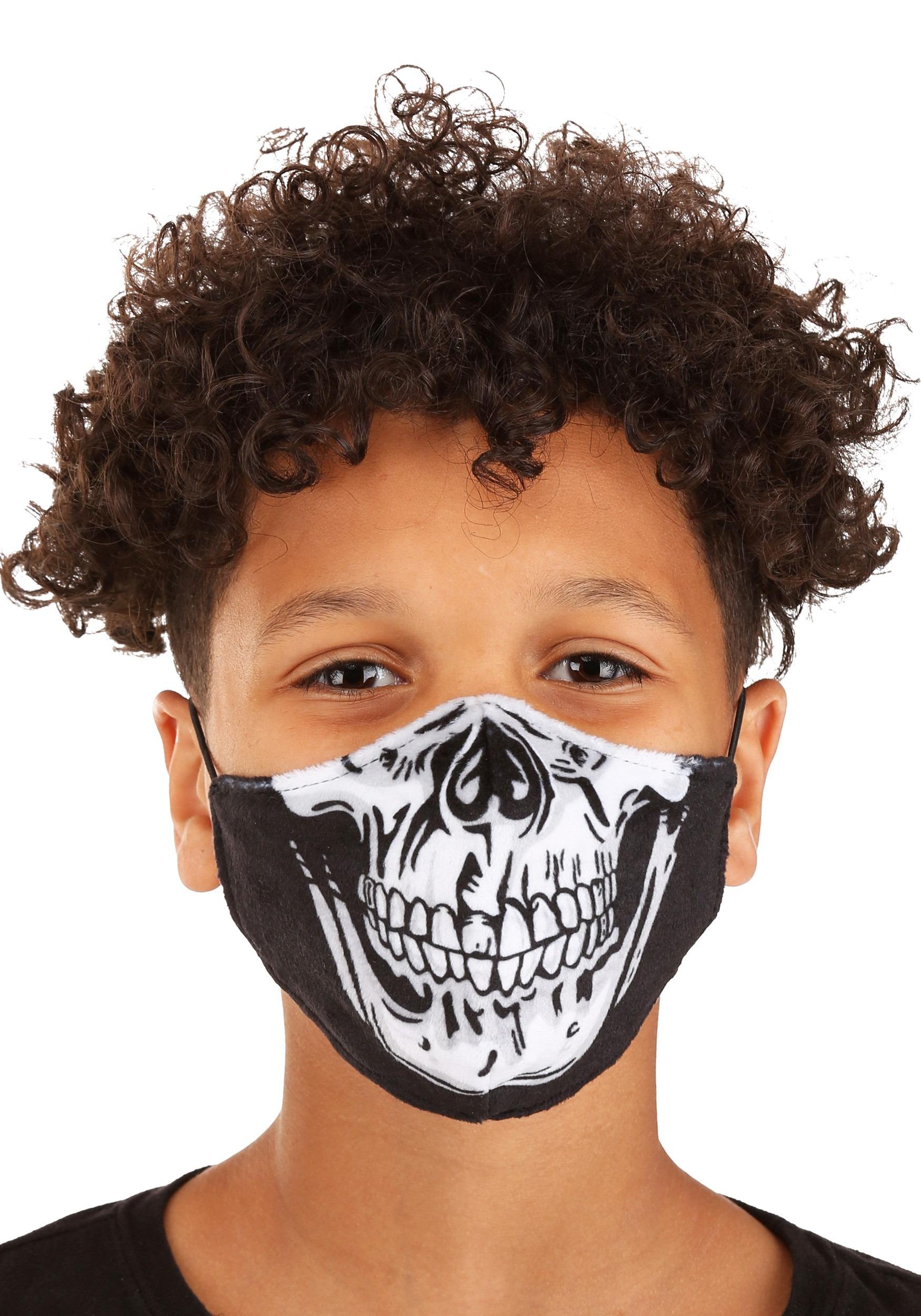 Skeleton Sublimated Face Mask for Kids