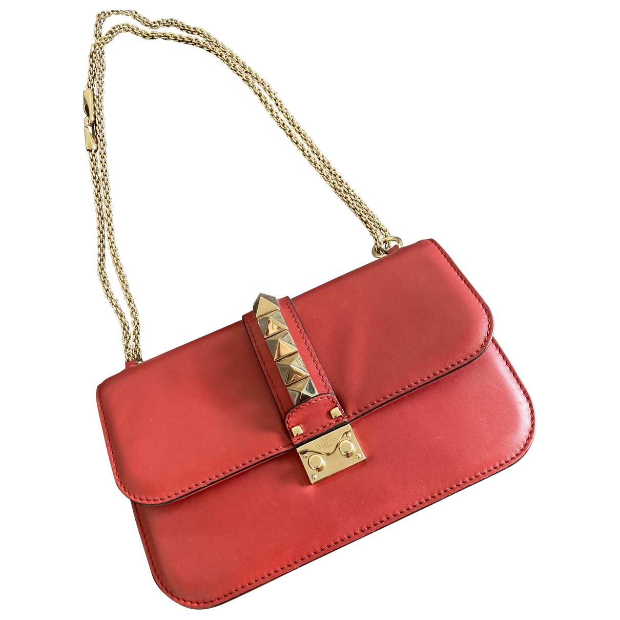 Valentino Garavani Glam Lock Red Leather handbag for Women \N