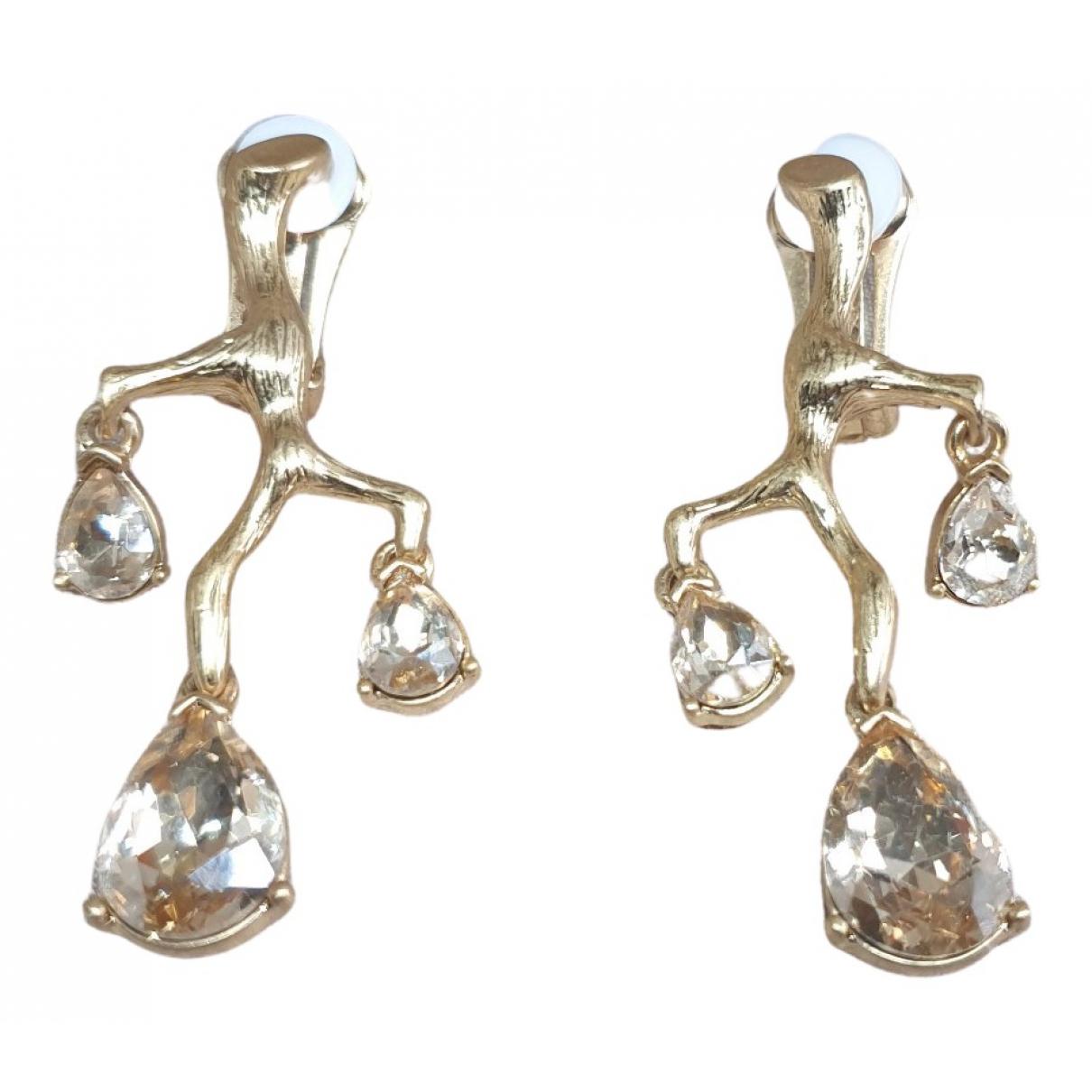 Oscar De La Renta N Gold Crystal Earrings for Women N