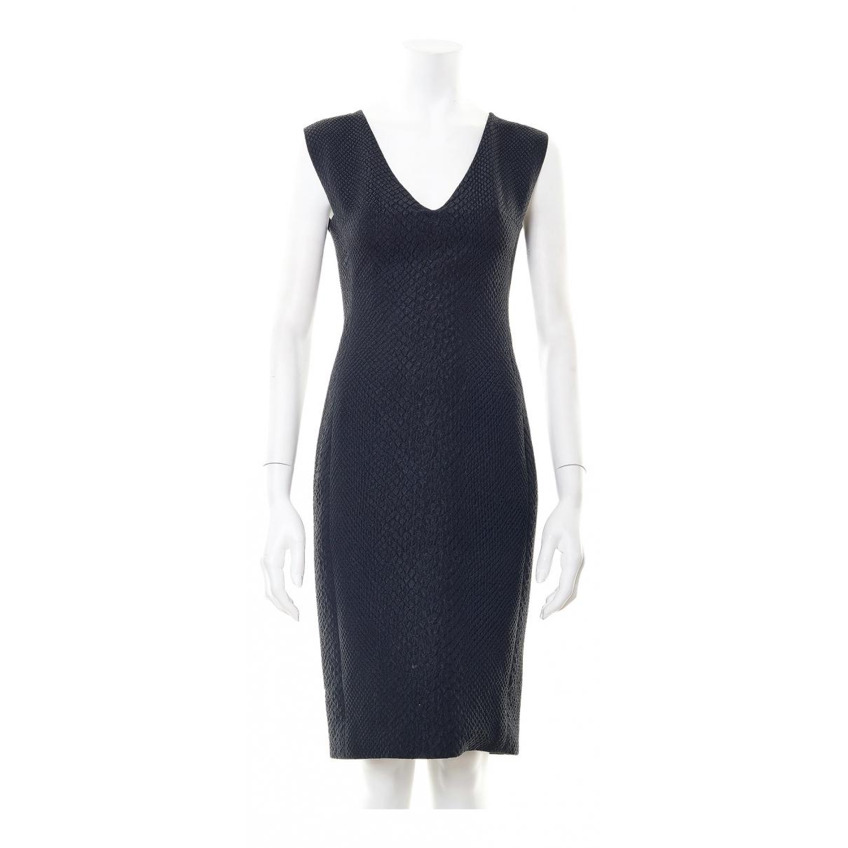 Lanvin \N Kleid in  Schwarz Synthetik