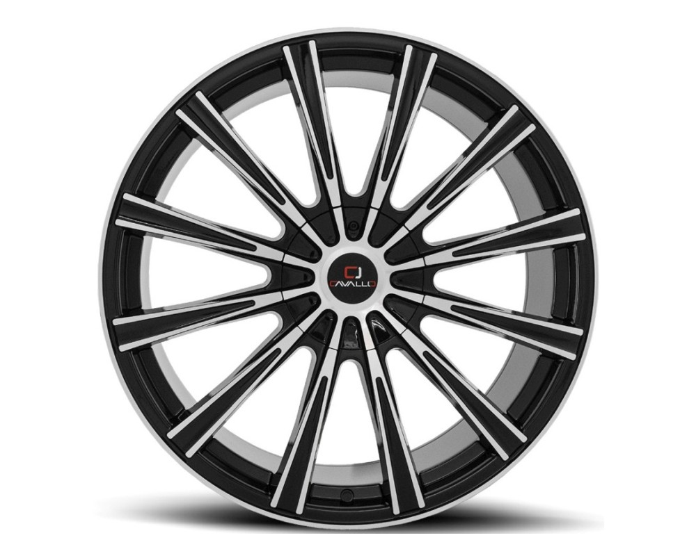 Cavallo CLV-23 Wheel 22x9.5 5x115|5x127 15mm Gloss Black Machined