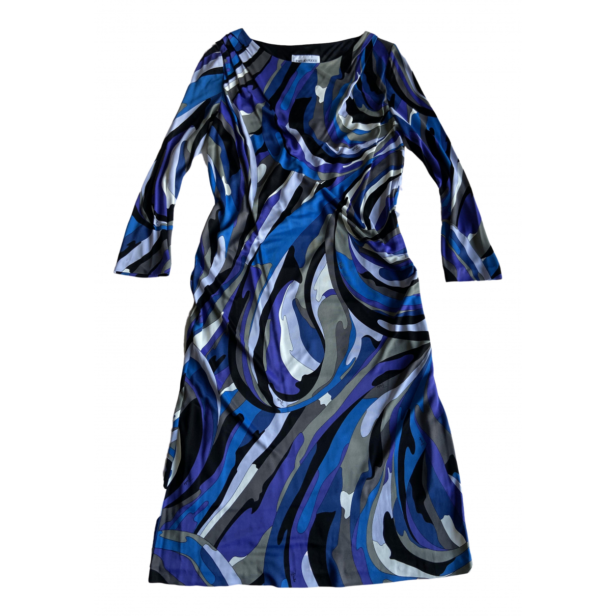 Emilio Pucci \N Kleid in  Blau Viskose