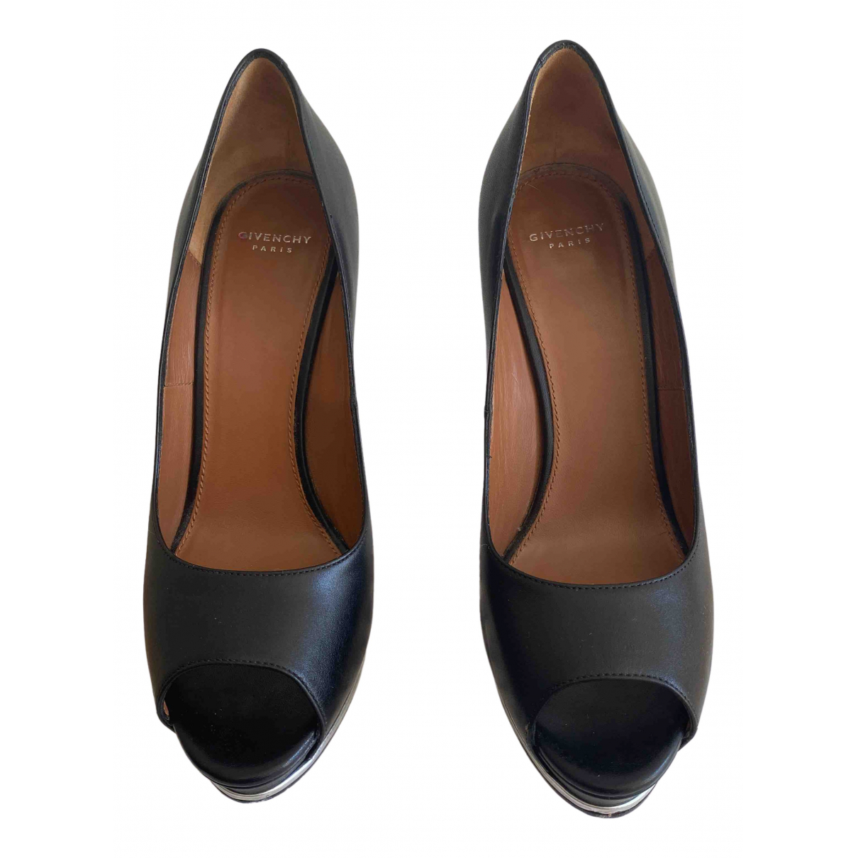Givenchy \N Black Leather Heels for Women 36 EU