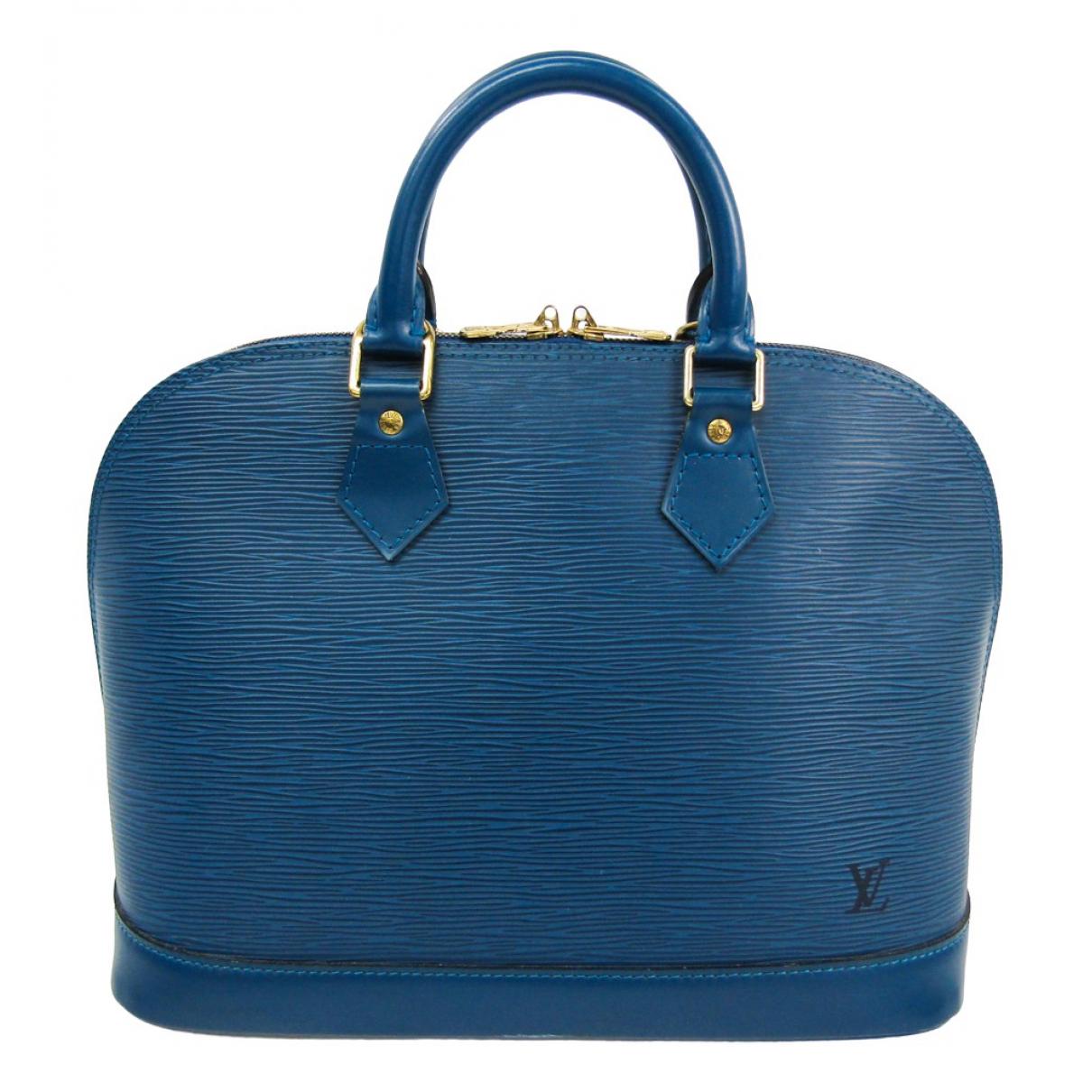 Louis Vuitton Alma Blue Leather handbag for Women \N