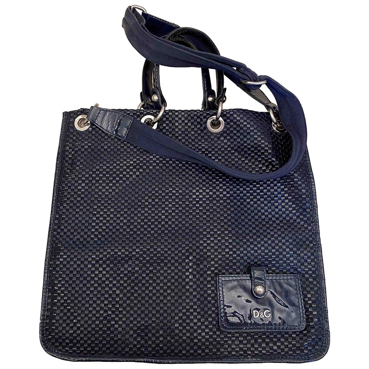 D&g \N Handtasche in  Marine Lackleder