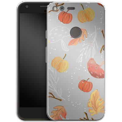 Google Pixel XL Silikon Handyhuelle - Fall Woodland Grey von Mukta Lata Barua