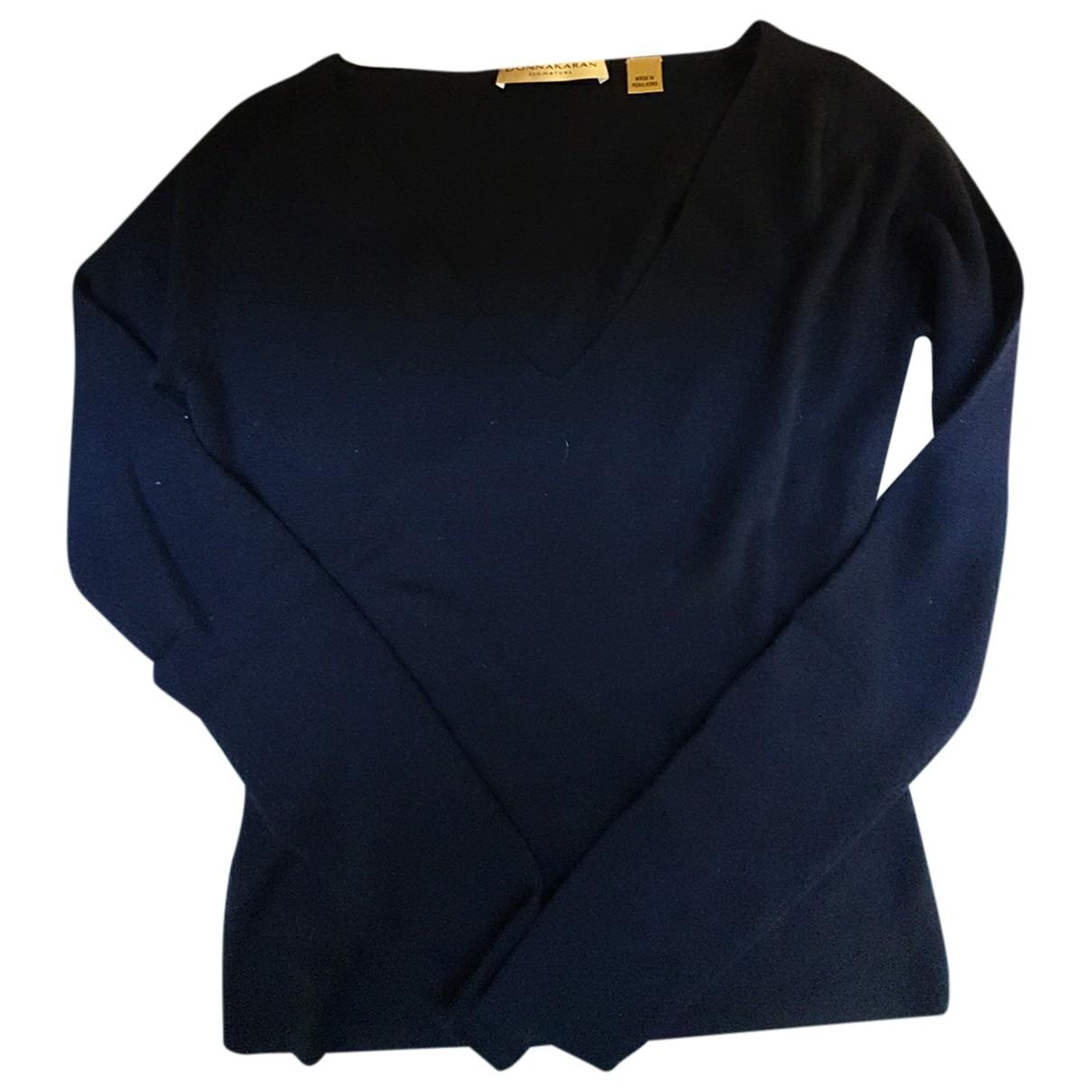 Donna Karan \N Pullover in  Marine Kaschmir