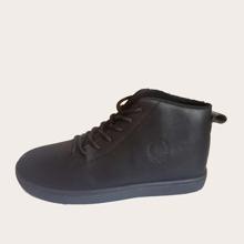 Zapatos de patin anchos de hombres con cordon delantero