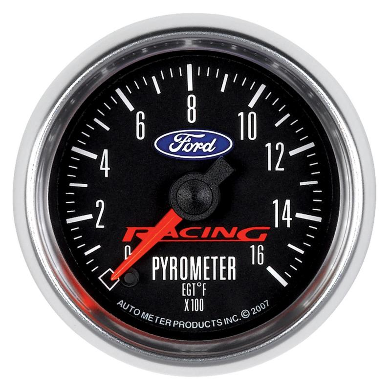 AutoMeter GAUGE; PYROMETER (EGT); 2 1/16in.; 1600deg.F; DIGITAL STEPPER MOTOR; FORD RACING