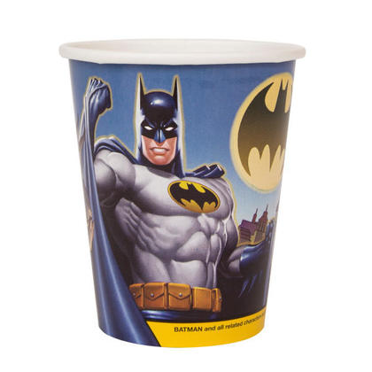 Batman 9oz Paper Cups, 8ct For Birthday Party