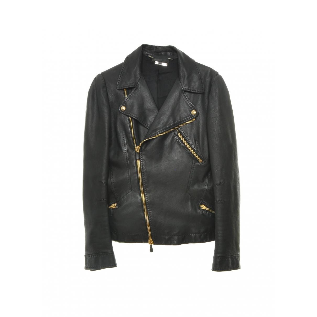 Alexander Mcqueen \N Black Leather jacket for Women 40 IT